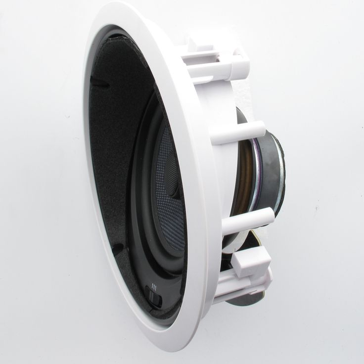 Theater Solutions TSS6A In Ceiling 6.5-inch Surround Sound HD Home Theater Angled Speaker 250 Watts