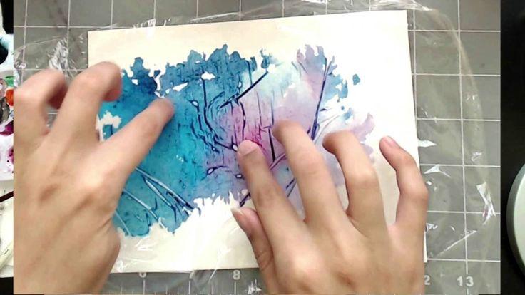 3 Simple Tricks for Unique Watercolor Textures Tekniker jag aldrig sett förut!