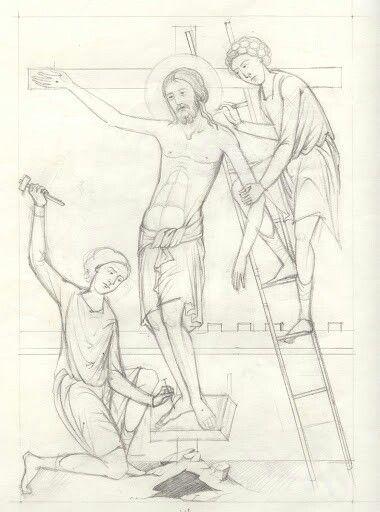 Viacrucis, crucifixión de Jesús.