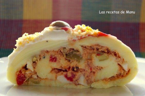 Las recetas de Manu: BRAZO DE GITANO DE PATATA