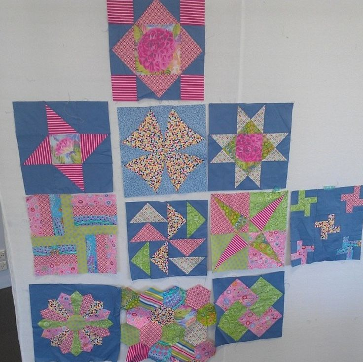 Sampler blocks from classes with Lorena Uriarte.