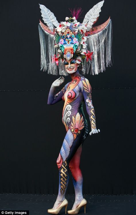Costumes and makeup at the World Body Painting Festival