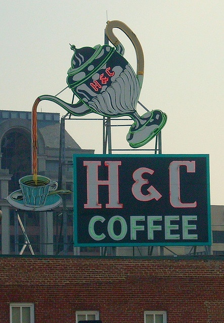 Virginia! Vintage coffee sign