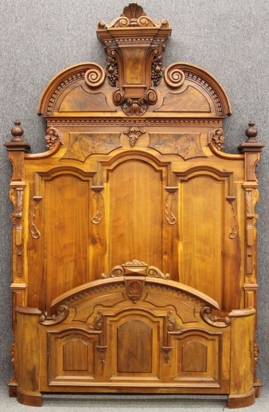 American renaissance revival walnut bed lot 1048 beds - Renaissance style bedroom furniture ...