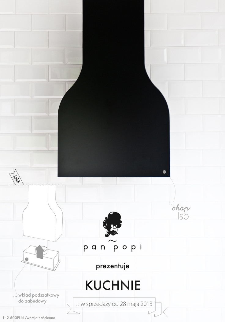 Kitchen hood i designed for Pan Popi (www.panpopi.pl)