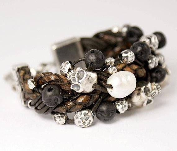 Dust N'Bones 100% Sterling Silver Bracelet  Womens