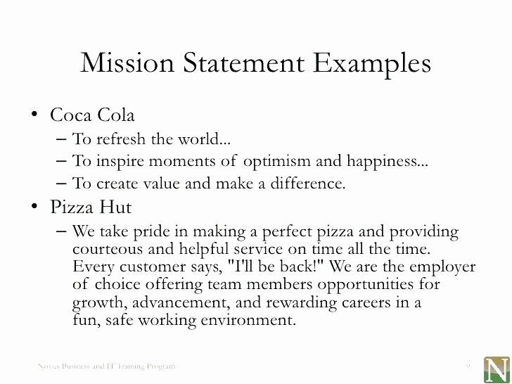 Non Profit Mission Statement Template Lovely Lesson 1 Vision And Miss Mission Statement Examples Mission Statement Template Personal Mission Statement Examples