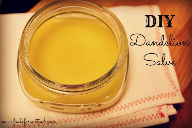 DIY Dandelion Salve - Great for achy muscles! :: Faulk Farmstead