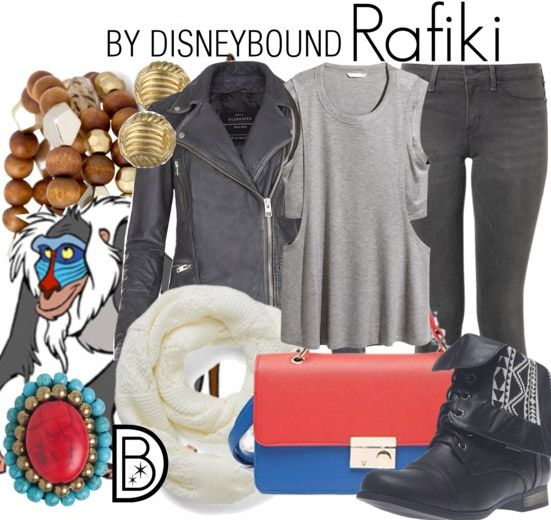 A punch of color gives this Rafiki outfit an awesome look  Disney Fashion   Disney Fashion Outfits   Disney Outfits   Disney Outfits Ideas   Disneybound Outfits   Lion King Outfit