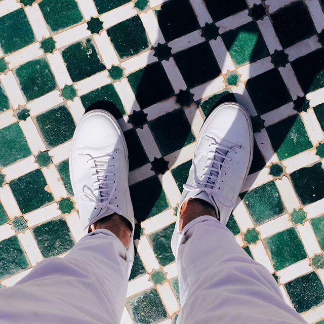 Osimo trainers. Pure white sneakers