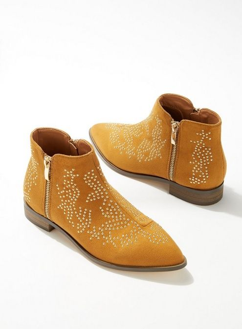79dc9a97ab9 BETHANY Tan Stud Detail Ankle Boots in 2019   #New_In January 2019 ...