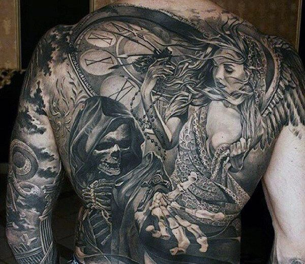 Men's Back Clock Tattoo Meaning