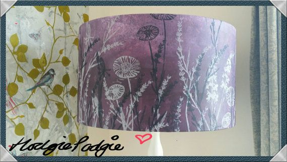 stunning hand printed and hand rolled lampshade by Hodgiepodgies