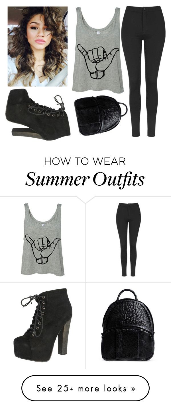 """school wear #16"" by alexfred on Polyvore featuring Topshop, Breckelle's, Coleman and Alexander Wang"