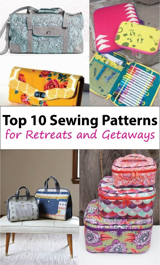 10 Travel Bags for Sewing Retreats