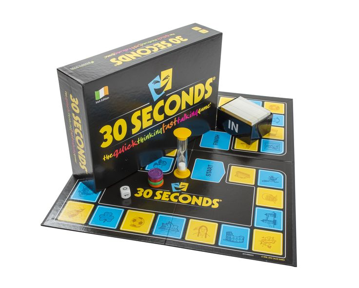 30 Seconds Board game is an Irish quick thinking fast talking description board game & is suitable for any group, party or family, big or small. It's an easy game to play & has broad appeal – it's not narrowed by gender, age or interest. It's a game for everyone. The content of the board …