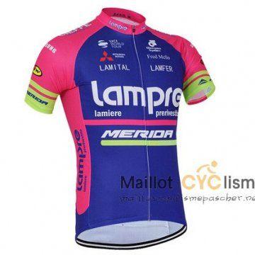 maillot Cyclisme pas cher Merida 2016 Manche Courte pourpre