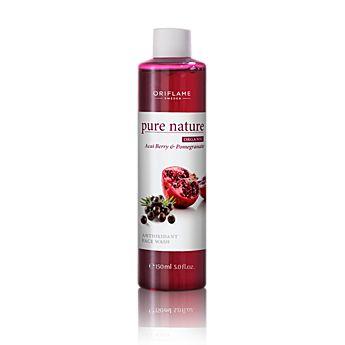 Pure Nature Organic Açai & Pomegranate Antioxidant Face Wash    Antioxidační čisticí gel s açaí a granátovým jablkem www.oriflame-24.cz