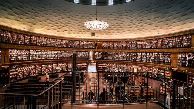 Beautiful libraries of the world.