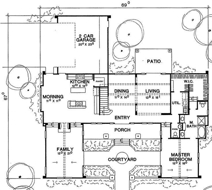 The Cape Dutch House Plan 3682 House Drawing