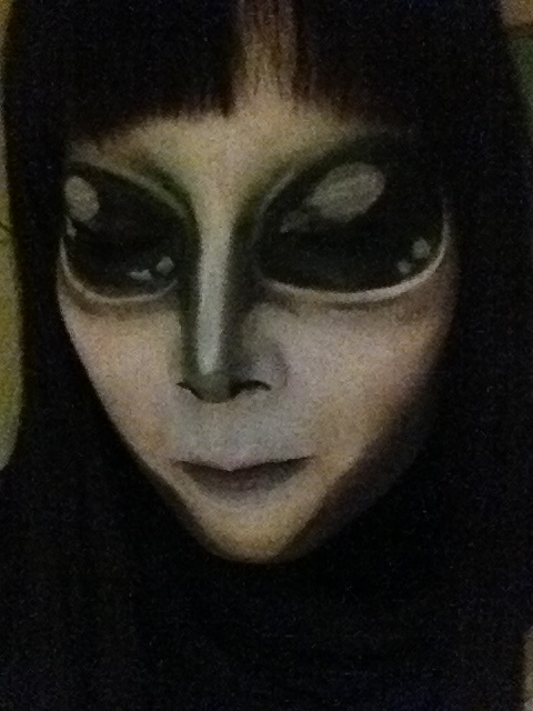alien makeup done by emiri happy halloween httpemiri art - Where Can I Get Halloween Makeup Done