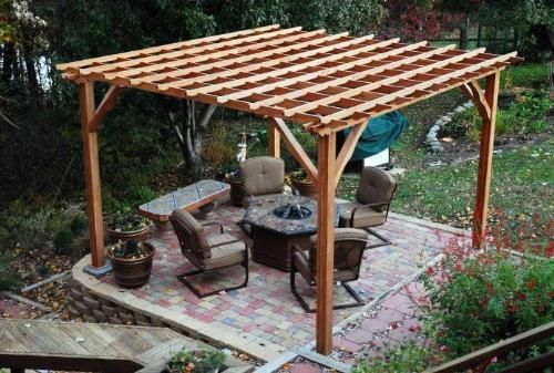 Freestanding Deck With Roof : Free standing patio roof designs pergola plans and