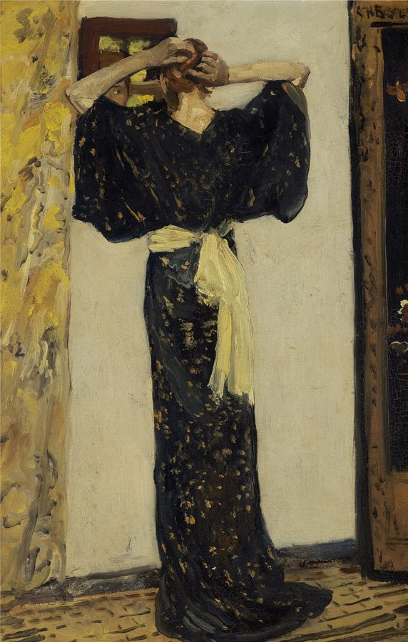 George Hendrik Breitner, Voor de spiegel, ca. 1893-november 1894 Olieverf op doek, 64 x 43 cm Particuliere collectie Foto Gert Jan van Rooij, Amsterdam