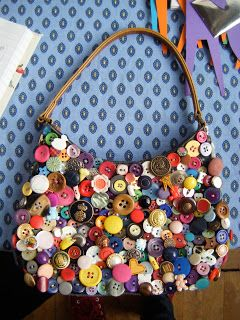 Buttons Bag.....recovering the front of a purse with a collection of buttons!
