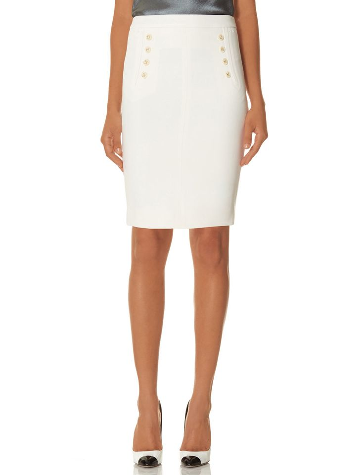 Officer's Pencil Skirt | SCANDAL Button Front Pencil Skirt | THE LIMITED