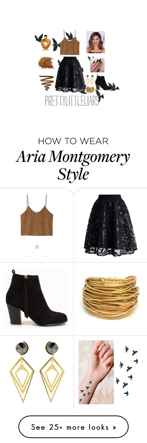 """Aria Montgomery"" by smiles-4-ever on Polyvore featuring moda, Goroke, Chicwish, Nly Shoes, Victoria's Secret, Sarah Magid y Black & Sigi"