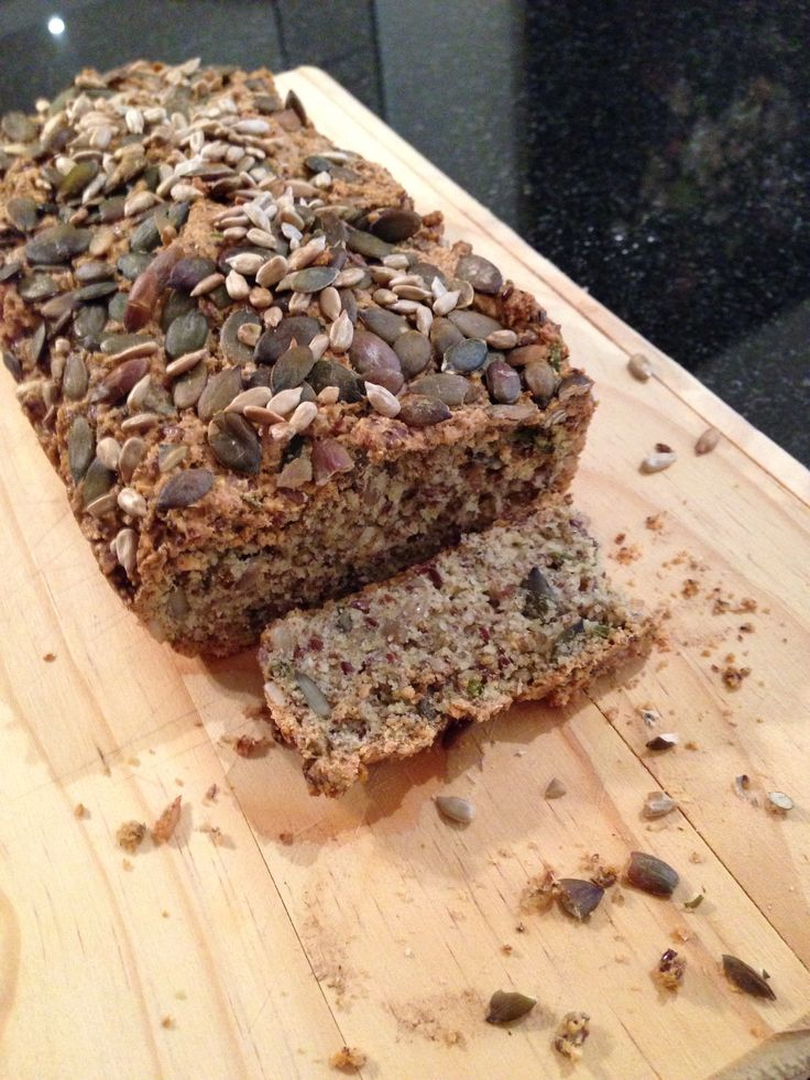 Delicious low carb bread  • 2 cups of almond flour • 1/2 cup of ground flaxseeds • ( I added ¼ cup unground Flax Seeds as well ) • ¼ cup of sunflower seeds • (I added a handful of Pumpkin Seeds as well) • 4 large eggs •  Bake at 190C/375F/Gas Mark 5 for about 45