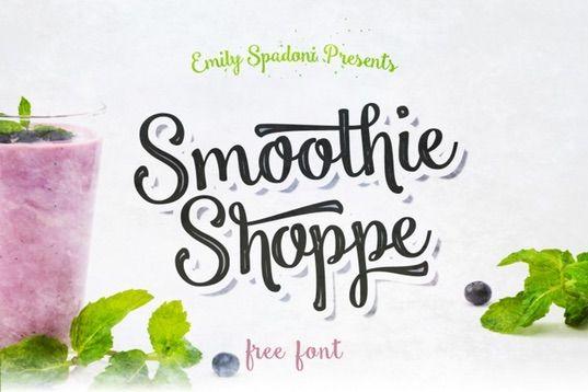 Free Smoothie Shoppe Script - osobní použití pouze TheHungryJPEG