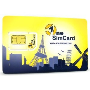 OneSimCard International SIM Card for 200 Countries with $10 Credit