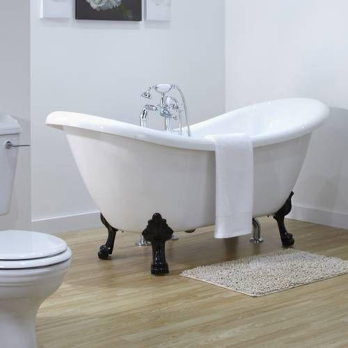 les 25 meilleures id es concernant baignoire sur pieds sur pinterest baignoire autoportante. Black Bedroom Furniture Sets. Home Design Ideas