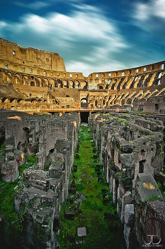 The Coliseum in Rome, Italy - this is an excellent shot. Hard to capture it's magnificence, but this does an excellent job.