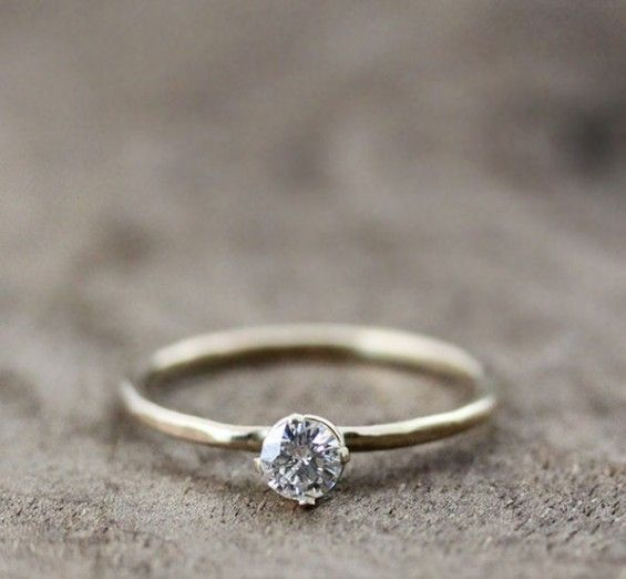 so prettyhandmade engagement ring by andrea bonelli jewelry - Handmade Wedding Rings