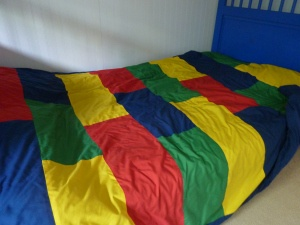 Homemade Duvet Cover- use as a shower curtain?