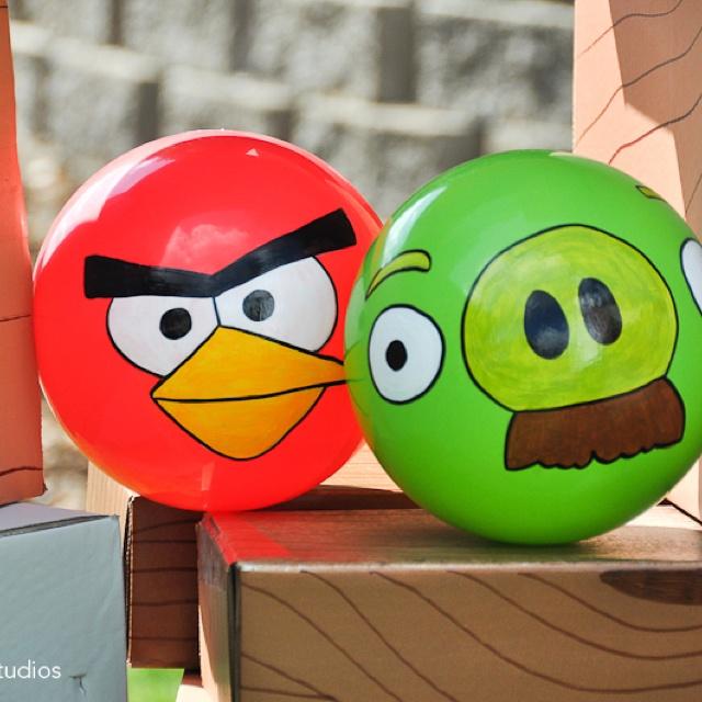 Angry bird balls