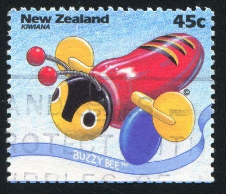 The famous buzzy bee, u not a kiwi kid unless u have one of these!