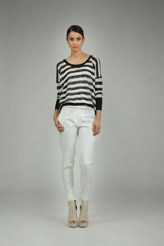 Taylor 'Incision' Collection, Summer 13/14   www.taylorboutique.co.nz Taylor - Mesh Stripe Sweater