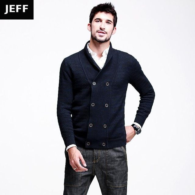 【 $29.59 & Free Shipping 】Autumn Mens Sweaters Male Winter Double Breasted Cardigan Blue Knitwear Slim Fit Brand Clothing | Buying & Reviews on AliExpress