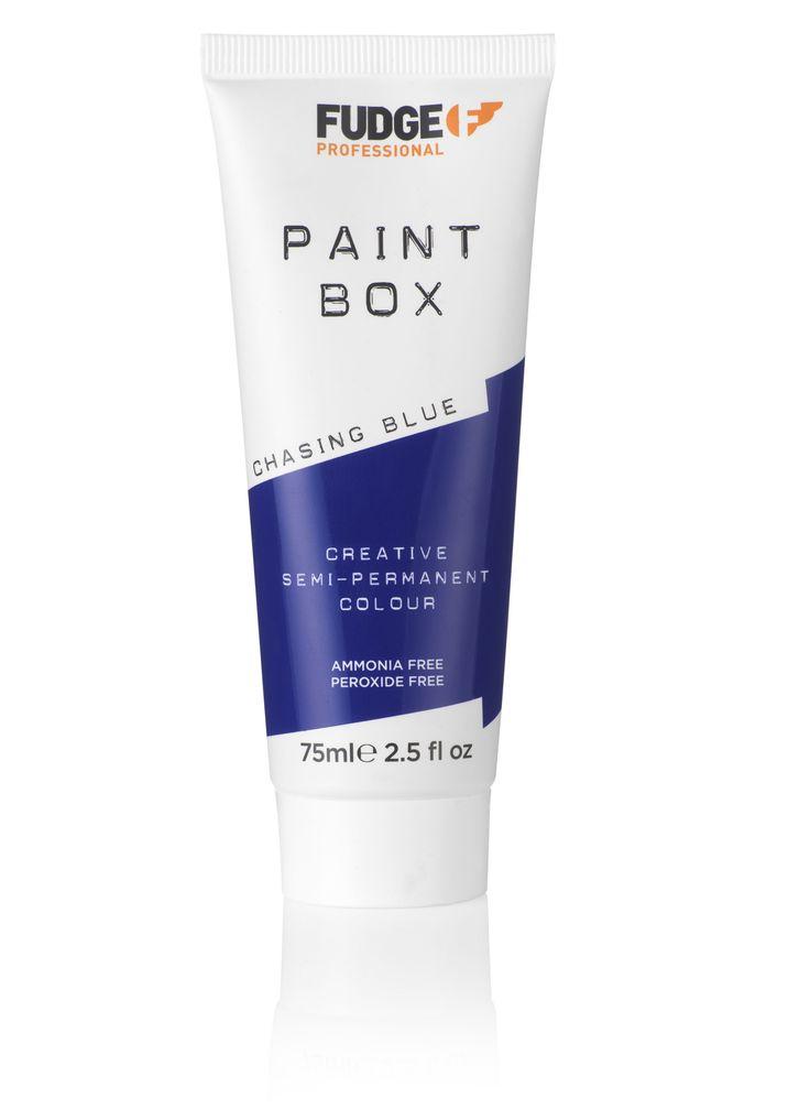Fudge Professional Paintbox Creative Semi-Permanent Colour Chasing Blue 75ml.