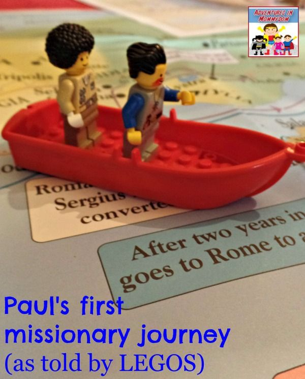 Paul's first missionary journey as told by Legos. Mystery of History Volume 2, Lesson 3 #MOHII3
