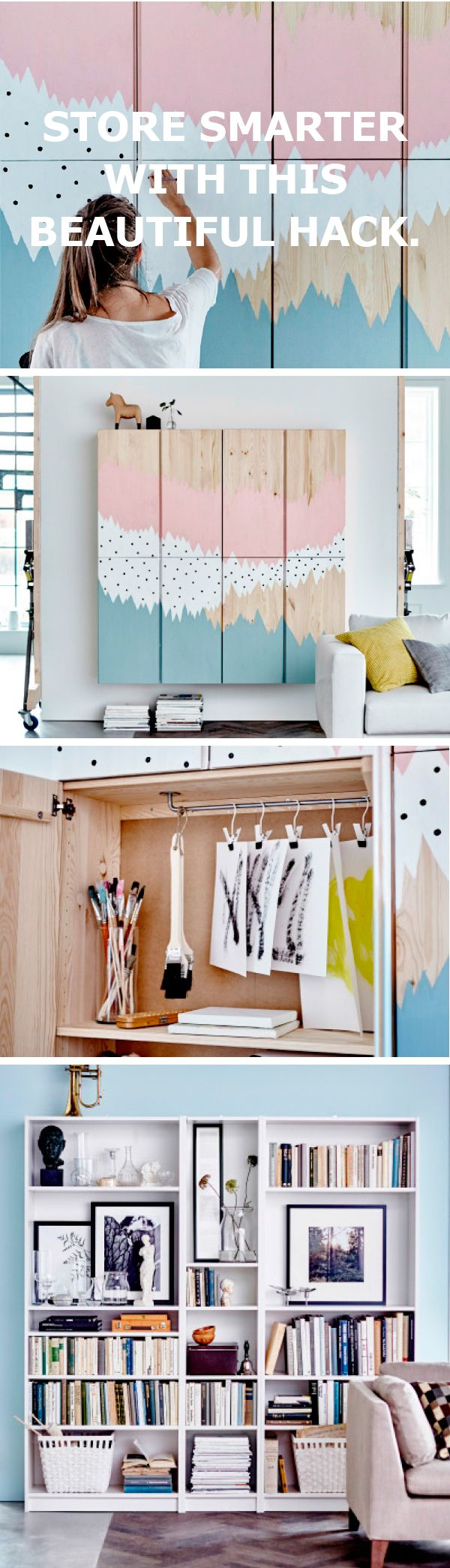 Store smarter with this beautiful IKEA IVAR hack.