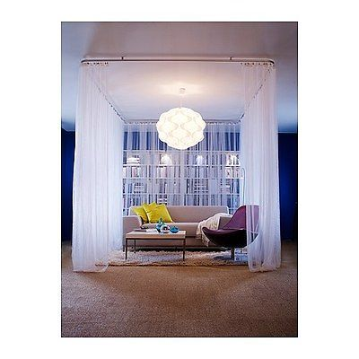Ikea 2x gardinenschals gardinenschal vorhang schlaufenschal gardine wei 280x300 home sweet for Gardinenschals kinderzimmer