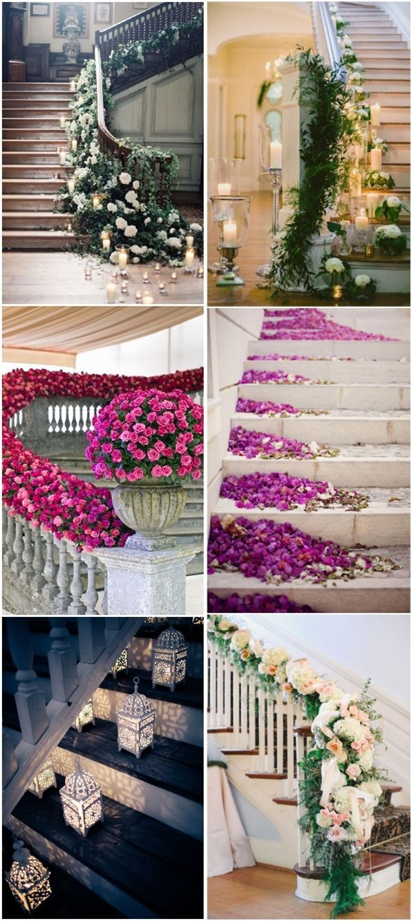 96 best home wedding decor images on pinterest wedding staircase 20 best staircases wedding decoration ideas junglespirit Image collections