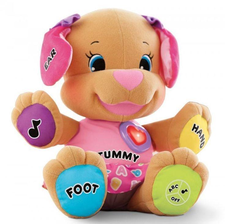 Boneka dengan bentuk anjing lucuuu dan pinter banget anjingnya. Merek Fisher Price. Ada 2 mode yaitu fungsi belajar dan lagu.   Fitur Lagu: