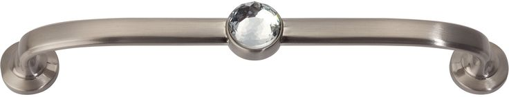Atlas Homewares 345 Legacy Crystal 5 Inch Center to Center Handle Cabinet Pull Brushed Nickel Cabinet Hardware Pulls Handle
