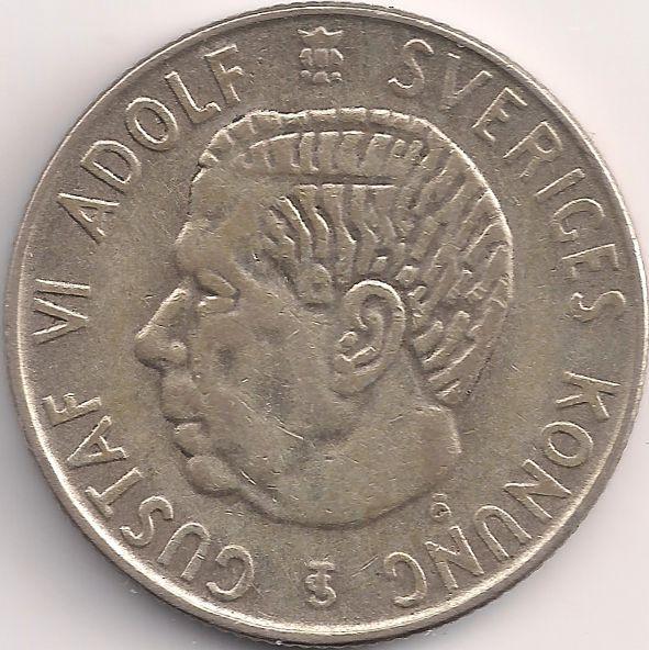 Motivseite: Münze-Europa-Nordeuropa-Schweden-Krona-1.00-1952-1968
