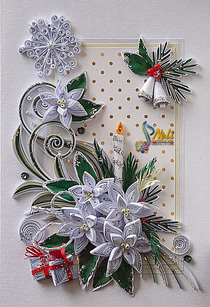 Стихи дружбе, новогодние открытки из квиллинга фото